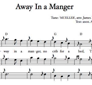 'Away in a Manger' [MUELLER] (downloadable PDF)